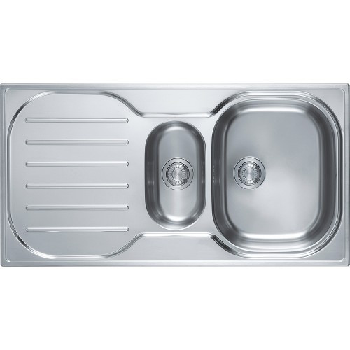 An image of Franke Compact Plus CRXP651 Sink 1.5 Bowls Single Drainer Reversible Complete wi...