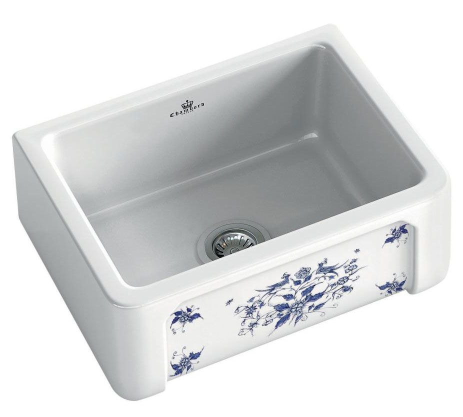 An image of Chambord Henri I Moustiers Decorated Ceramic Kitchen Sink