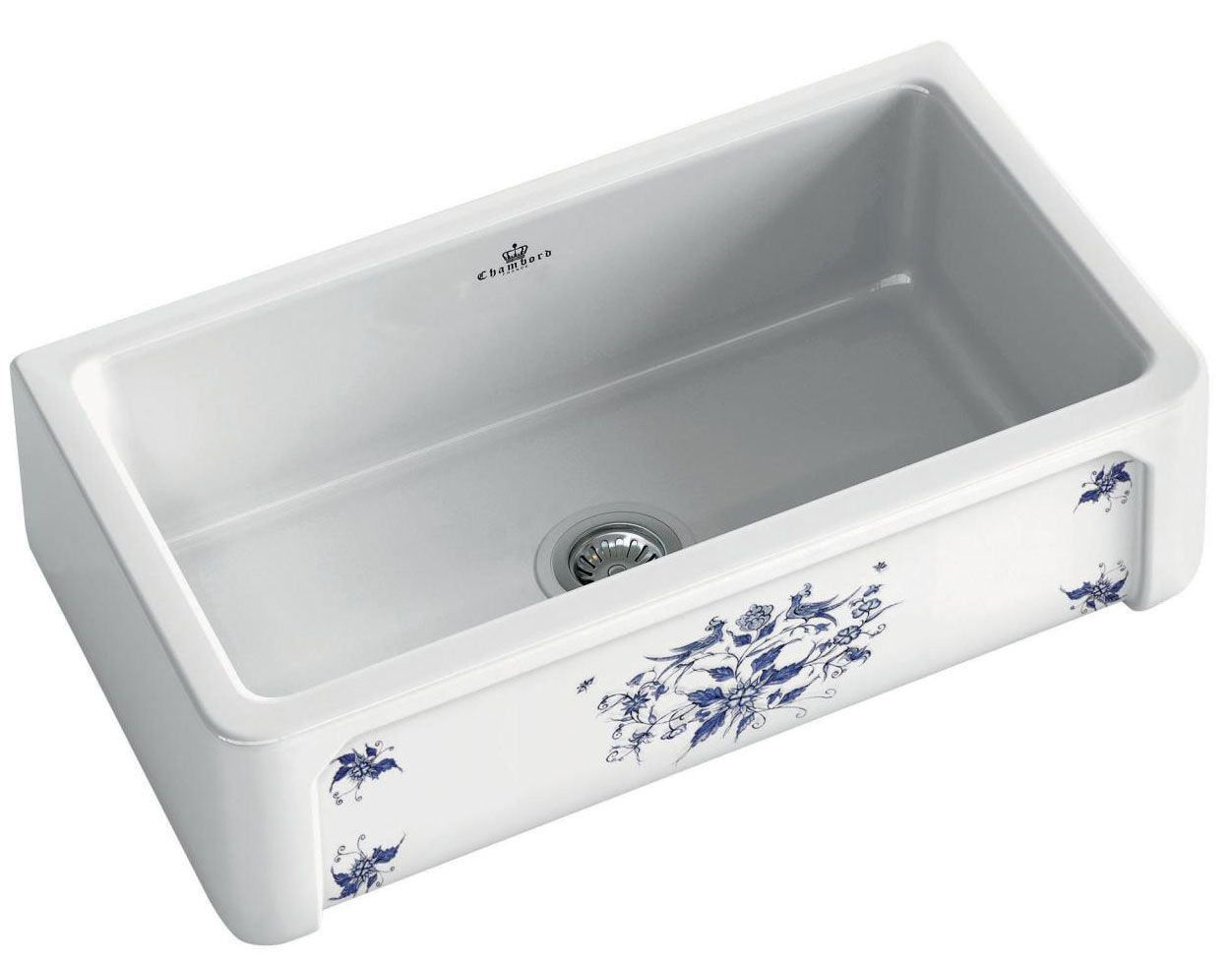 An image of Chambord Henri II Moustiers Decorated Ceramic Kitchen Sink