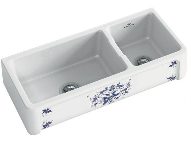 An image of Chambord Henri III Moustiers Decorated Ceramic Kitchen Sink