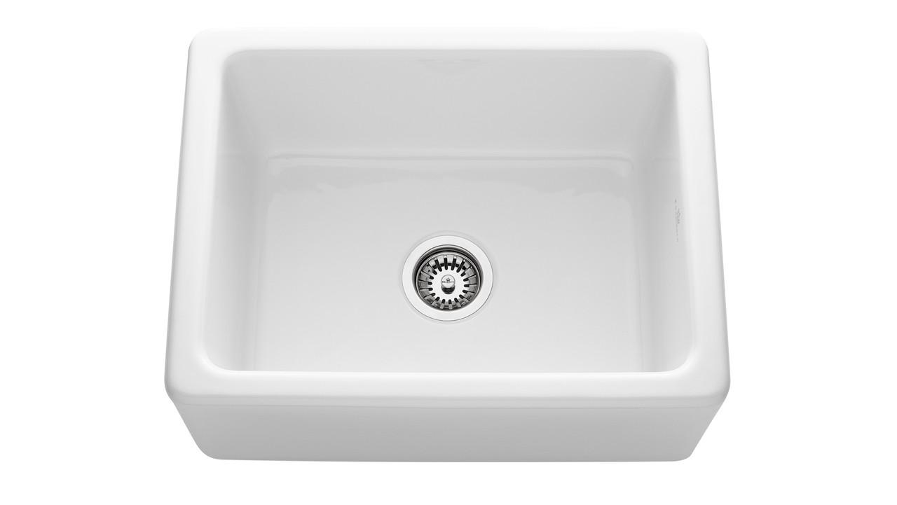 An image of Chambord Philippe I White Ceramic Kitchen Sink