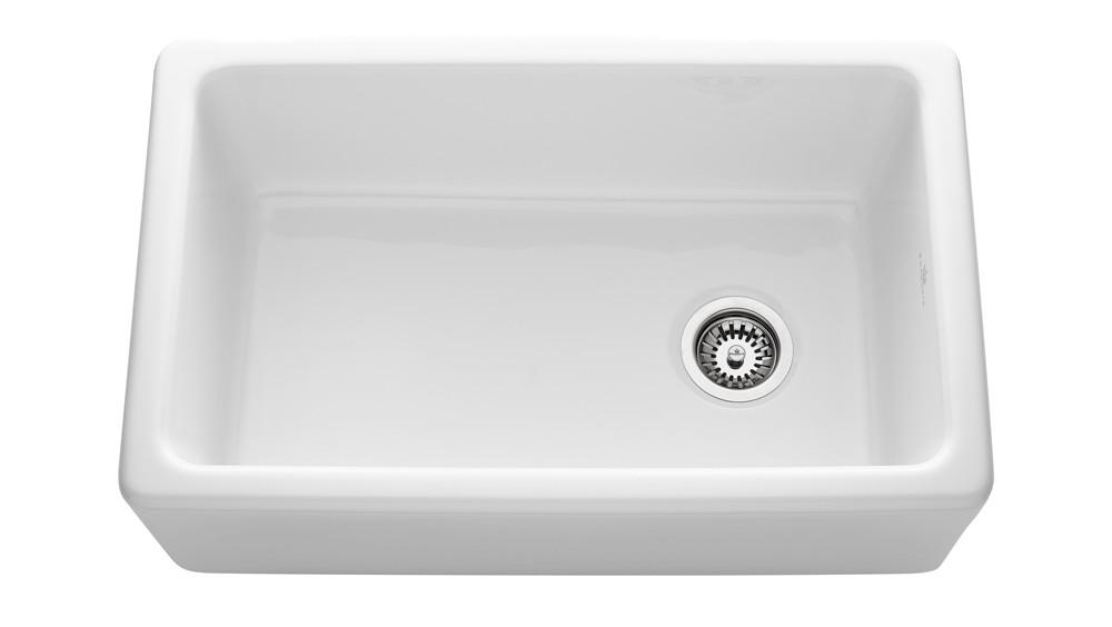 An image of Chambord Philippe II White Ceramic Kitchen Sink