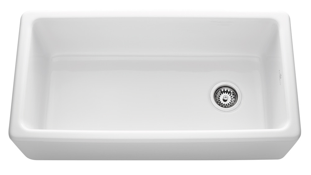 An image of Chambord Philippe III White Ceramic Kitchen Sink