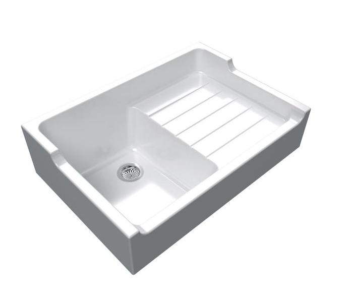 An image of Chambord Francois I White Ceramic Kitchen Sink