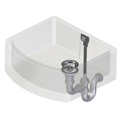 An image of Perrin & Rowe Single Bowl Waste and Overflow Kit