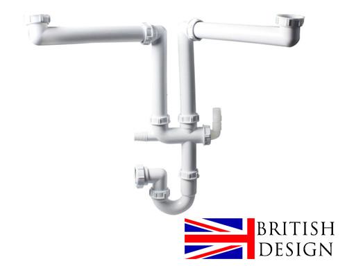 An image of British Precision Plumbing Double Bowl Plumbing Kit