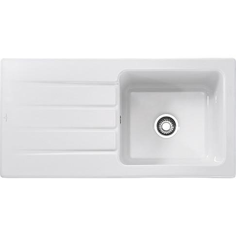 An image of Franke Arcana AHK611 Ceramic White Kitchen Sink