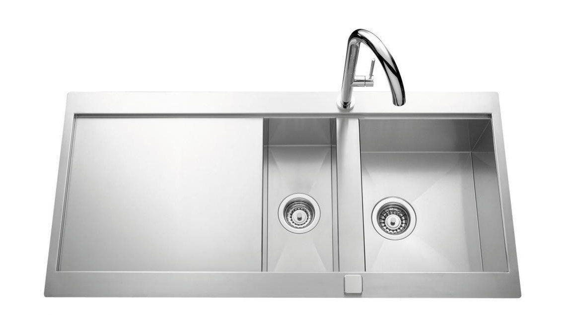 An image of Luisina Adagio Plus EV5611E-IL One + Half Bowl Kitchen Sink With Drainer