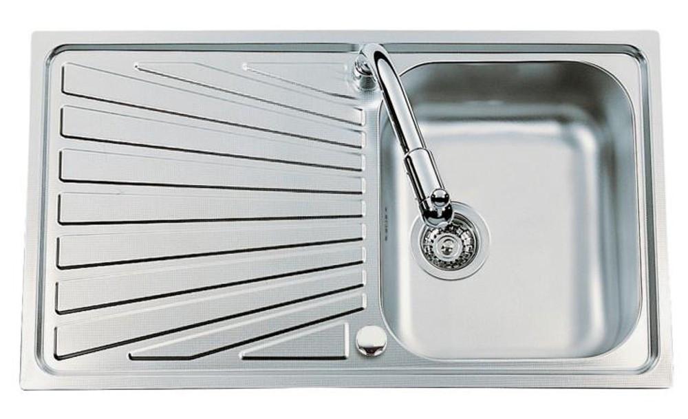 An image of Luisina Verdi EV5401-IL Single Bowl Kitchen Sink With Drainer
