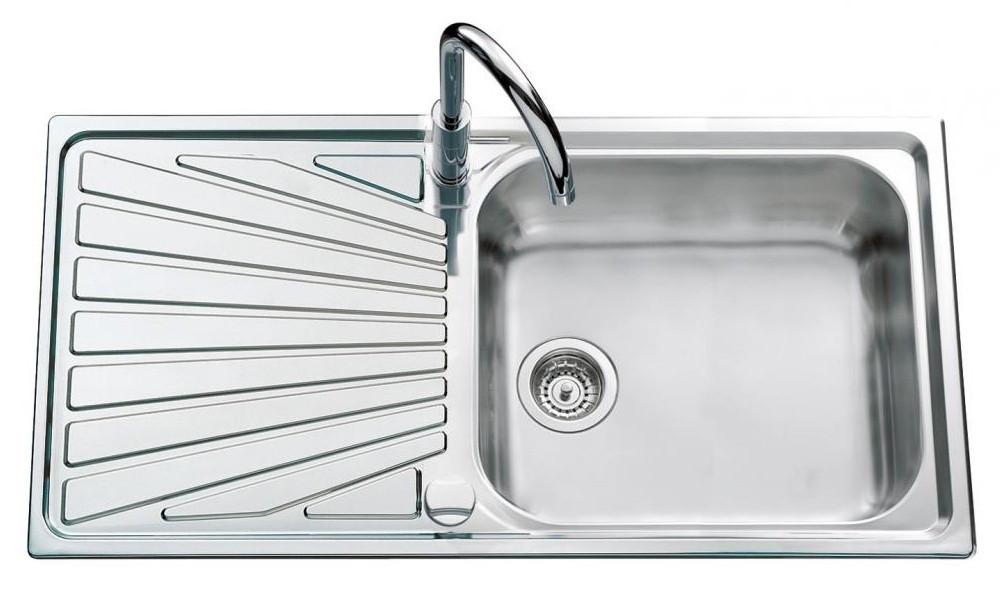 An image of Luisina Verdi EV54011-IL Single Bowl Kitchen Sink With Drainer