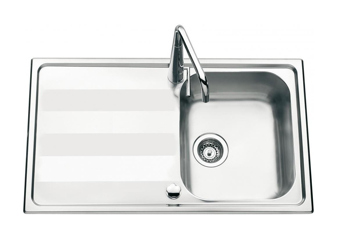 An image of Luisina Menuet EV5201-IL Single Bowl Kitchen Sink With Drainer