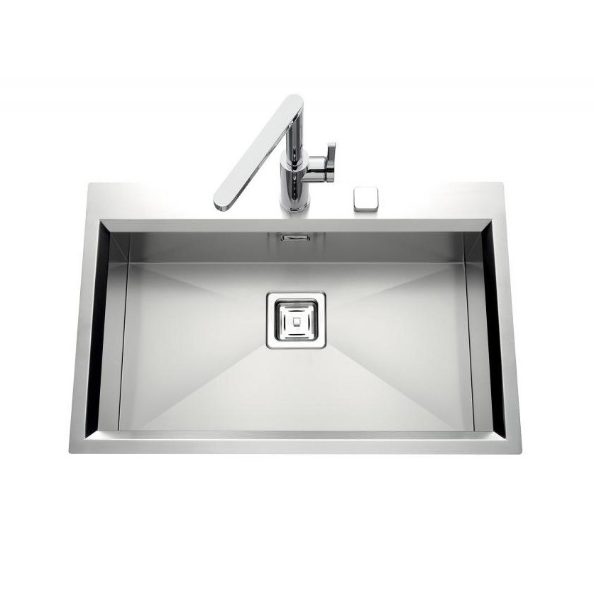 An image of Luisina Glamour EV62-IL Single Bowl Kitchen Sink With Drainer