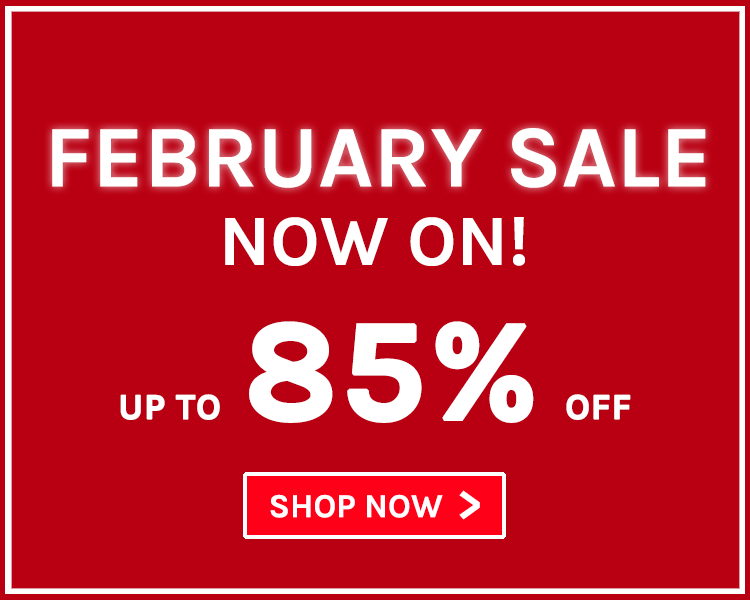 February Sale | Up to 85% off!