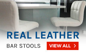 Real Leather Bar Stools